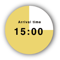 Arrival time 15:00