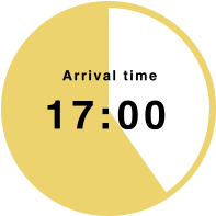 Arrival time 17:00