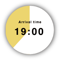 Arrival time 19:00