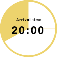 Arrival time 20:00