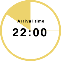 Arrival time 22:00